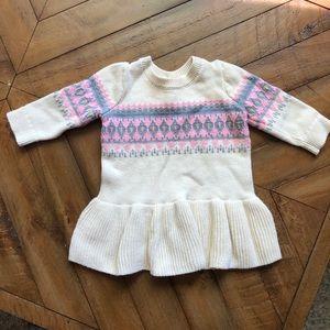 Baby Gap Fair Isle Sweater Dress